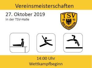 Vereinsmeisterschaft @ TSV-Halle